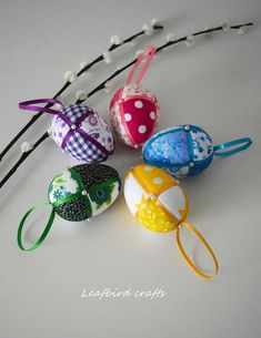 Your place to buy and sell all things handmade Easter Fabric, Kawaii Crafts, Satin Ribbons, Chicken Eggs, Egg Decorating, Spring Crafts, Easter Crafts, Easter Eggs, Ornaments