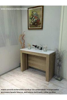 Mesa consola extensible de estilo nordico