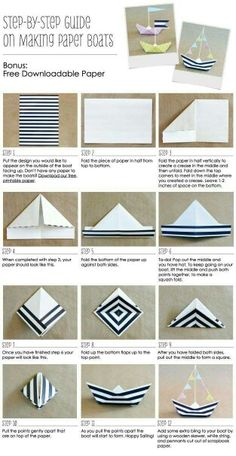 How to Create a Paper Boat & Anchor Nautical Party Ideas // Free Printabl . - How to create a paper boat & anchor nautical party ideas // free printabl …. Make A Paper Boat, Make A Boat, How To Make Paper, Paper Boats, Diy Boat, Nautical Wedding, Nautical Theme, Nautical Anchor, Nautical Baptism