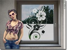 Etched Glass Door, Glass Etching, Window Glass Design, Elegant, Danish, Ornament, Home Decor, Art, Vinyls