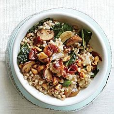 Cheesy Buckwheat with Kale and Mushrooms Recipe - could add sundried tomatoes