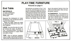 Barbie Printable Dollhouse Stuff | DIY Clothes-Pin Barbie Side Table & Chair