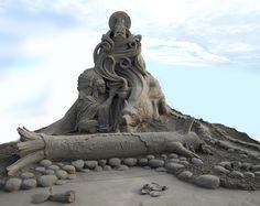The Sand « Villafane Studios – Pumpkin Carving, Sand Sculpting, Action Figure Creating
