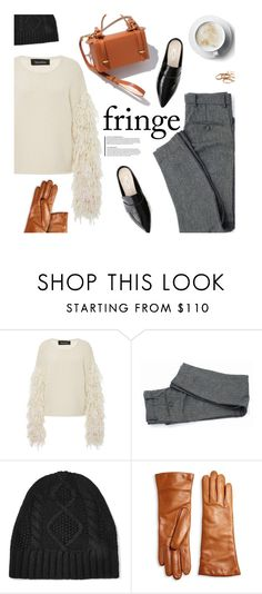 """""""Fringe sweater"""" by magdafunk ❤ liked on Polyvore featuring Tabula Rasa, Frame Denim, Saks Fifth Avenue Collection, Kendra Scott, FallColors, fallessentials, fallsweaters and fringesweater"""