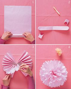 Easy decor from tissue paper