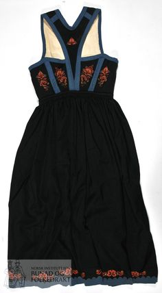 Folklore, Europe, Popular, Embroidery, Formal Dresses, Black, Women, Fashion, Norway