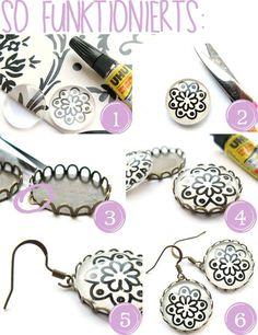 DIY: Ohrringe selber machen mit Cabachons (Anleitung)