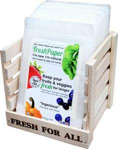 Fenugreen FreshPaper - Keeps Fruits & Veggies Fresh, Naturally!