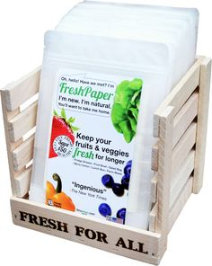 "Fenugreen FreshPaper - Keeps Fruits &  Veggies Fresh, Naturally!  Listened to young creator describe how ""grandma"" cleaned water, and how it inspired her to create this ... amazing!"