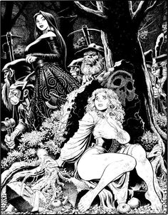 Comic Link :: The Online Vintage Comic Book and Comic Art Auction and Exchange Comic Book Artists, Comic Artist, Comic Books Art, Art And Illustration, Ink Illustrations, Evvi Art, Ink Art, Arte Horror, Horror Art