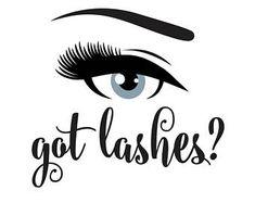 Lashes decal, got lashes, hair salon decal, eye sticker, lashes wall decal, got lashes decal, sign for salon, hair salon decal, eye makeup