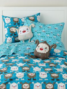 Land of Nod Yeti Duvet Cover by my awesome friend Michelle Romo! www.Crowdedteeth.com