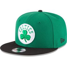 Boston Celtics New Era 2-Tone 9FIFTY Adjustable Snapback Hat - Kelly Green  Black fdd53df331a