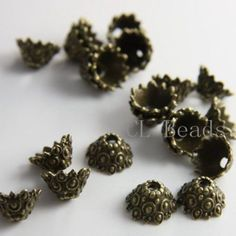 20pcs-Antique-Brass-Tone-Base-Metal-Findings-Cap-12x7mm-13355Y-T-1