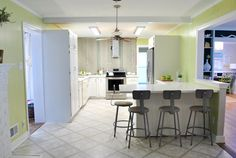 The Big Kitchen Reveal | Young House Love.....must see before and after pix....this is midway thru redo....