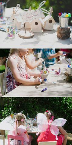 """Decorate a """"fairy house"""" - Cute! Fairy Themed Birthday Party"""