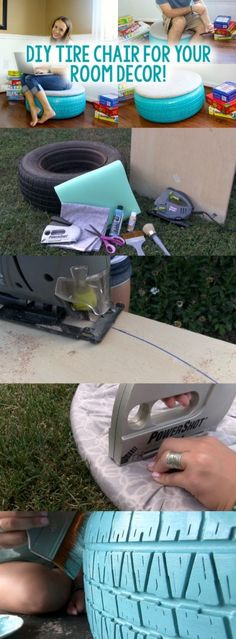 DIY Tire Chair - A Little Craft In Your DayA Little Craft In Your Day