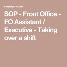 Daily Task List  Front Office Assistant  Night Shift  Christie