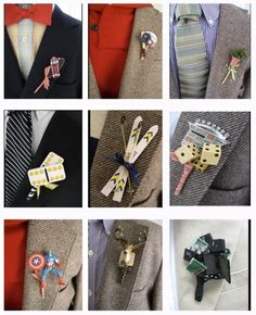 www.weddbook.com everything about wedding ♥ It's his day too ladies... Let him express himself with a fun boutonniere  #weddbook #wedding #groom