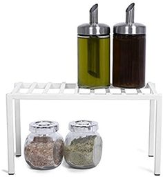 Amazon.com: Smart Design Premium Cabinet Storage Shelf - Small (10.63 x 5.25 Inch) - Steel Metal Frame - Rust Resistant Coating - Cup, Dish, Counter & Pantry Organization - Kitchen [White]: Kitchen & Dining Storage Cabinets, Storage Shelves, Shelf, Kitchen Dining, Kitchen White, Freezer Storage, Smart Design, Pantry Organization, Steel Metal