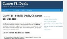 Canon T5i bundle deals , cheapest price for the T5i bundle