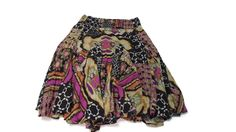 Womens Plus Size 18 /20 Pretty Yvos Spring Summer Multi Colors  floral Skirt  #Yvos #FullSkirt