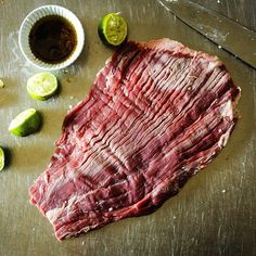Tonight's meat - #flanksteak @girlcarnivore and I will be firing up the grill soon #foodiepopups #gorare (no link)