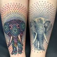 As for his style of tattooing - Thomas works with countless colored dots, patterns, color gradients, with immense patience, forming fantastic patterns on the skin.