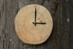 Handcrafted, Reclaimed Wood Wall Clock