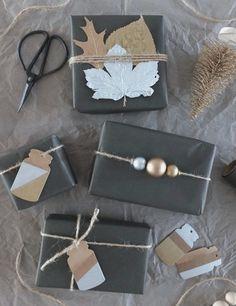 [DIY] ↠ Mit Liebe verpackt.. Weihnachtsgeschenke im Metallic-Look!