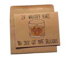 Whiskey Birthday Card - Funny Birthday Card for Whiskey Lovers - Whiskey Card for Dad . - Whiskey birthday card – funny birthday card for whiskey lovers – whiskey card for dad – whiskey birthday card for him – grandfather card, card - Happy Birthday For Him, Birthday Quotes For Him, Birthday Card Sayings, Birthday Cards For Him, Funny Birthday Cards, Birthday Greetings, Birthday Card Boyfriend, Humor Birthday, Diy Birthday Cards For Dad