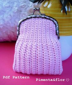 Pattern Crochet Coin Purse by Pimentayflor on Etsy