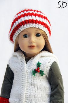 adorable christma vest and hat