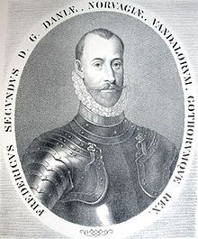 Friedrich II 1534-1588 ab 1559 König von Dänemark und Norwegen