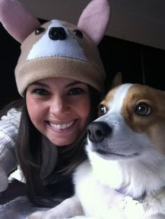 Handmade, customized Corgi hats. Get your EARS on, #Corgi fans! Pembroke and Cardigan, in your choice of coat color and markings: PetCaps by Page on etsy! https://www.etsy.com/shop/PetCaps