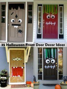 35 Halloween Front Door Decor Ideas
