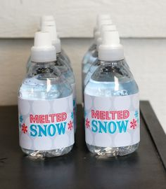 Water - melted snow - school winter party