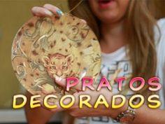 Artesanato: Pratos Decorados, Como fazer - YouTube