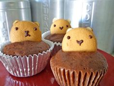 Groundhog day cupcakes!