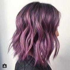 Super Hair Color Ideas For Brunettes Balayage Purple Hairstyles Ideas – Hair – Hair is craft Hair Color Ideas For Brunettes Balayage, Purple Balayage, Hair Color Balayage, Purple Highlights, Balayage Bob, Pravana Hair Color, Balayage Straight, Hair Highlights, Light Purple Hair