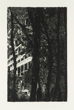 Peter Doig 'Concrete Cabin', 1996, Etching and aquatint on paper © Peter Doig
