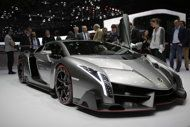 Lamborghini unveils $3.9 million car _ all 3 sold  The new Lamborghini Veneno is seen during the first media day of the 83rd Geneva International Motor Show, Switzerland, Tuesday, March 5, 2013. The Motor Show will open its gates to the public from March 7 to 17.