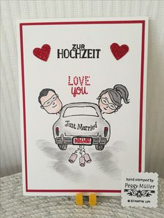 Stampin up , wonderful life , Everyday Hero , kleine herzstanze , Hochzeit , Design by peggy Müller