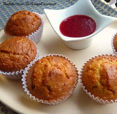 Prepara Magdalenas de Maíz sin gluten ni lácteos. Deliciosa receta de cupcakes o pastelitos #SinGluten y #SinLacteos Has click en la imagen para ir a la receta