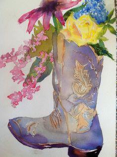 """""""Yellow Rose of Texas"""" by Watercolor Artist, Karen Scherrer"""