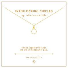 Interlocking Circles 14K-Gold Plated Charm