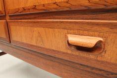 Great detail of a handle. Rosewood cabinet attributed Niels Ole Møller, Denmark. www.reModern.dk