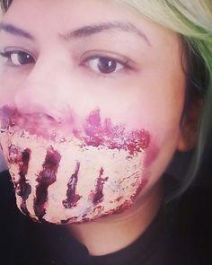 Maquillaje Halloween herida  #halloween #halloweenmakeup #creepy #horror