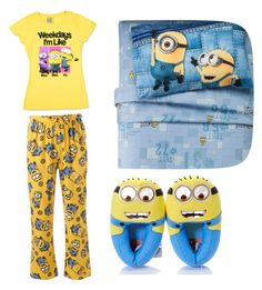 """Minion time"" by lilobilo ❤ liked on Polyvore featuring interior, interiors, interior design, home, home decor, interior decorating and Universal"