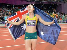 Sally Pearson finished her race and proud of herself  By teddy